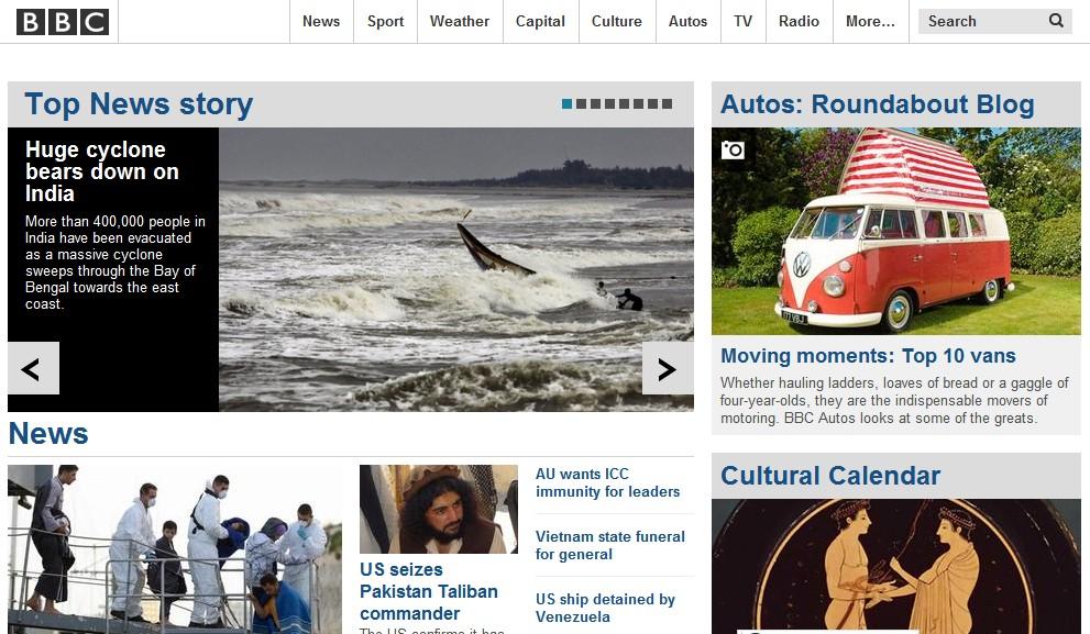BBC官网截图