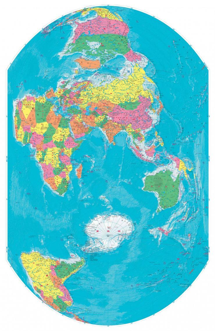 竖版世界地图